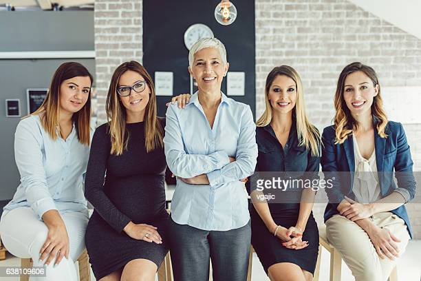 Women Only Business Team Portrait
