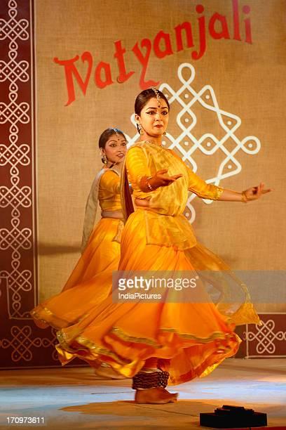 Women performing Kathak dance India
