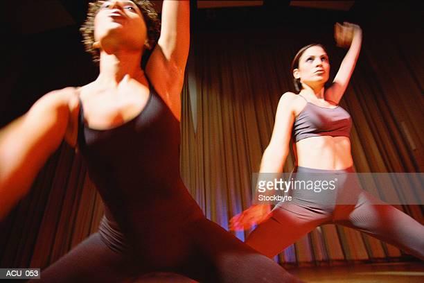 Women performing modern dance