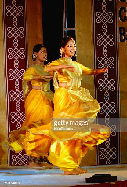 Women performing the classical Kathak Dance India