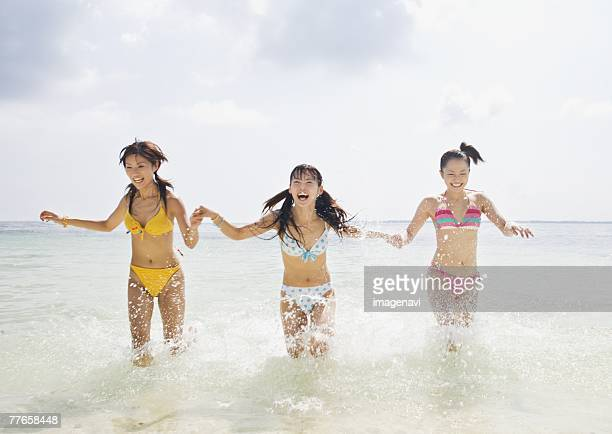 Women playing on the beach