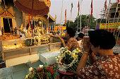 Women Praying Outside Wat Phra Singh