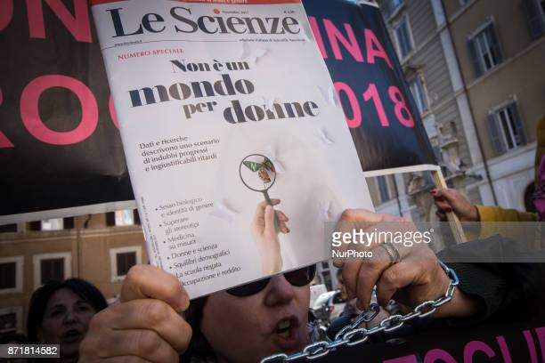 Women protest in Piazza Montecitorio to ask for the extension of 'Opzione Donna' the possibility of early retirement for women workers provided for...