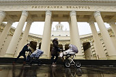 moscow russia women push baby strollers