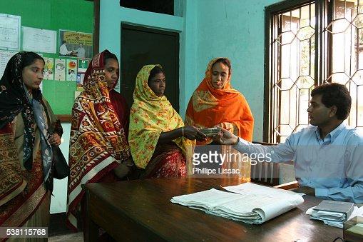 Women Receive Grameen Bank Loan
