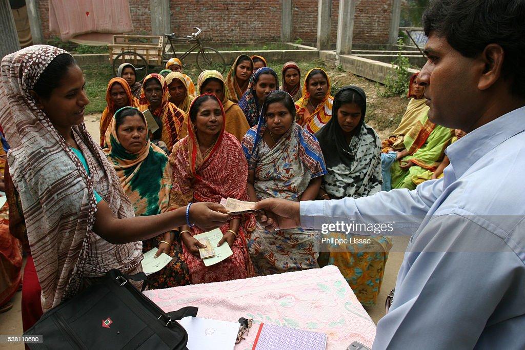 Women Receiving Loans From Grameen Bank