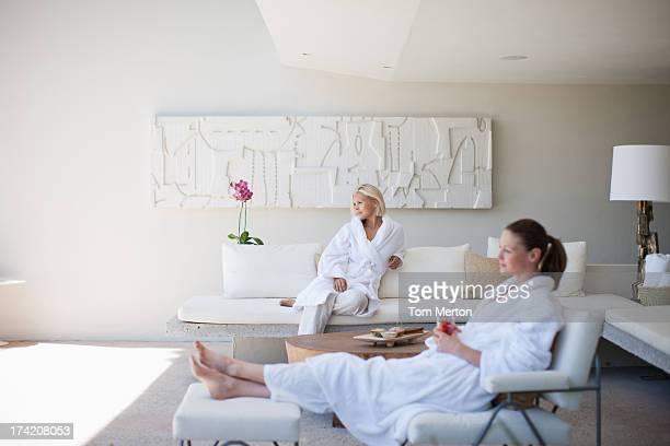 Women relaxing in spa