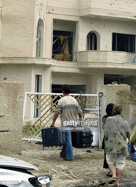 Women return to their home following their weekend break to find it damaged a day after a car bomb detonated outside the close by villa housing the...