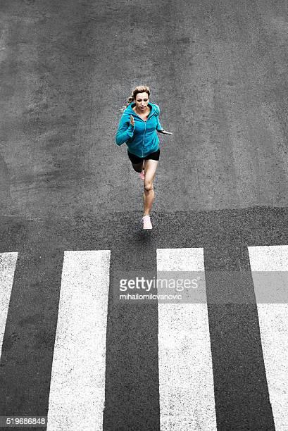 Women running on the streets