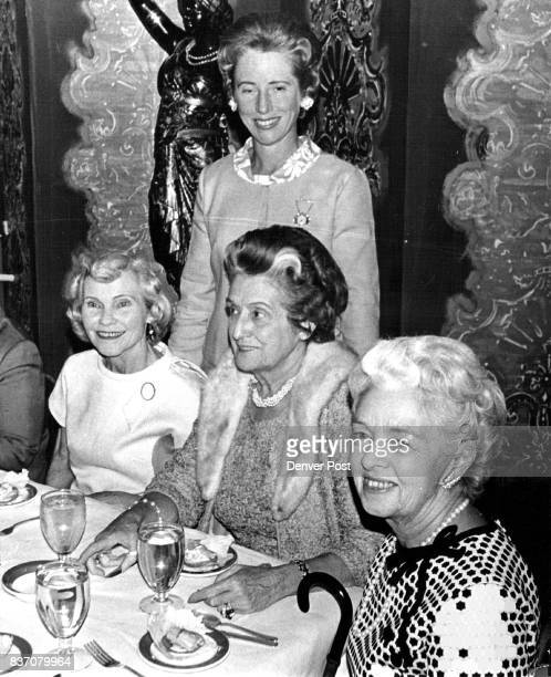 Women See Samuel Winston Collection In Central City Attending recent fashion show staged by Neusteters ore from left Mrs Thomas Welborn Baroness...
