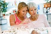 Women shopping for jewelry