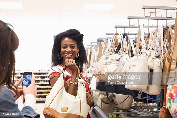 Women shopping together in store