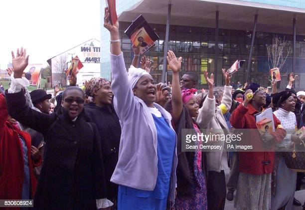 Women singing during the march in south London in support of Damilola Taylor who was murdered in Peckham Several churches in Damilola's neighborhood...