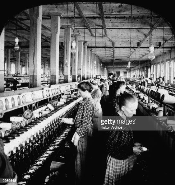 Cotton Factory: Spooling Yarn At A Cotton Mill Pictures