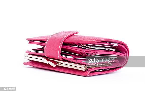 Frauen gefüllte Pink Geldbörse