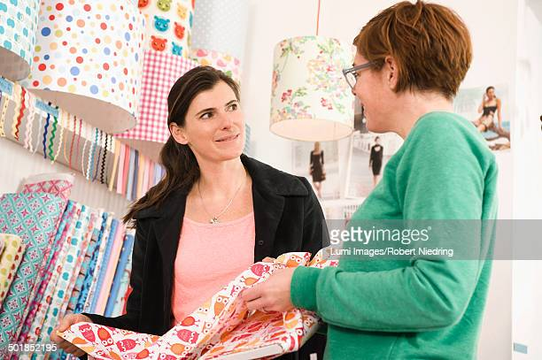 Women Talking In A Shop, Munich, Bavaria, Germany, Europe