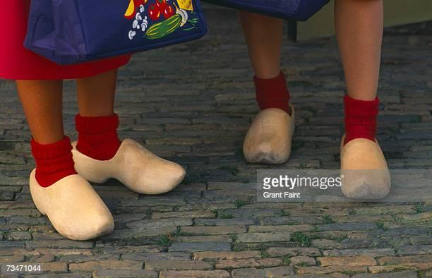 Women wearing clogs, low section