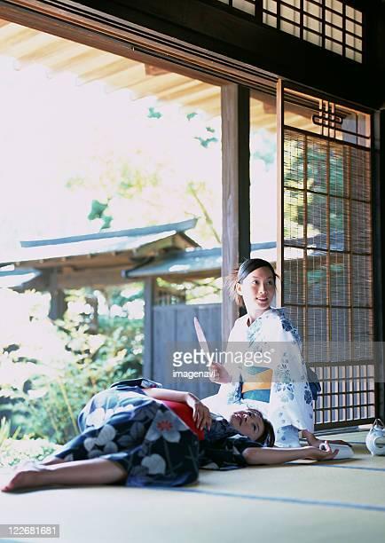 Women wearing Yukata