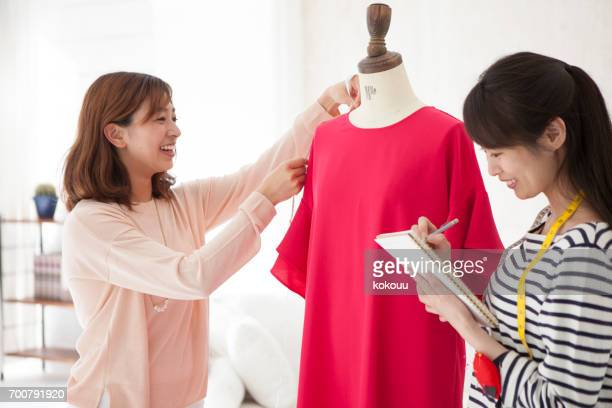 Women who use sewing mannequin