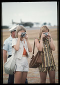Women with Cameras at Air Force Base