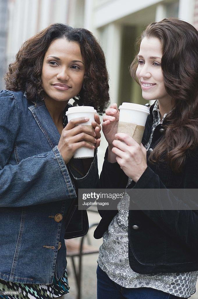 Women with coffee : Stock Photo