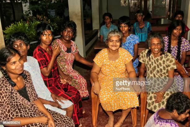 Women with mental and physical disabilities at the Karuna Nilayam Church of Ceylon social welfare center in Killinochchi Sri Lanka The Karuna Nilayam...