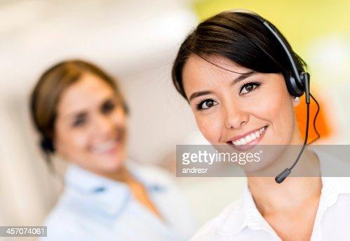 Women working at a call center