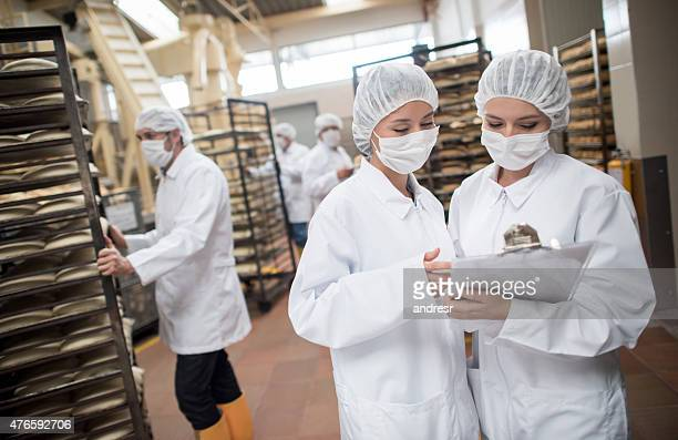 Women working at a food factory