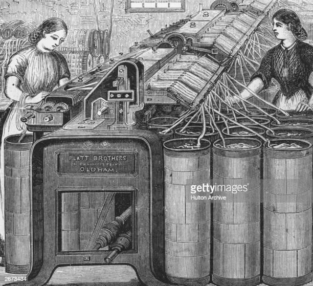 Women working at Platt Bros cotton factory in Oldham Lancashire