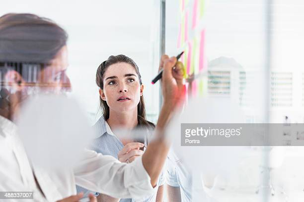 Women working at the office sharing ideas