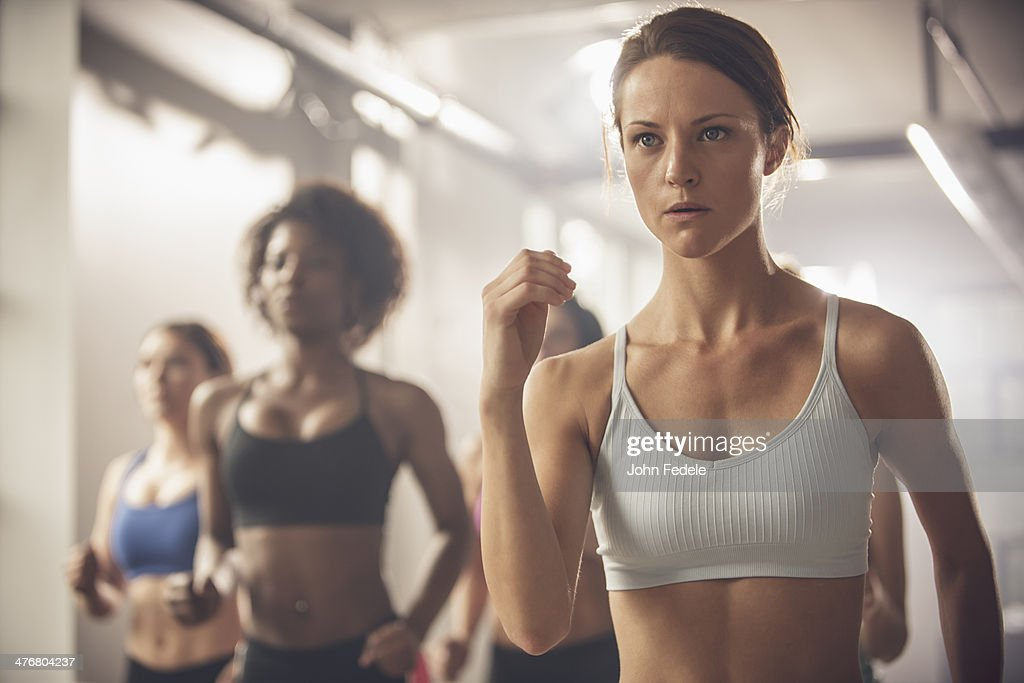 Women working out in exercise class : Photo