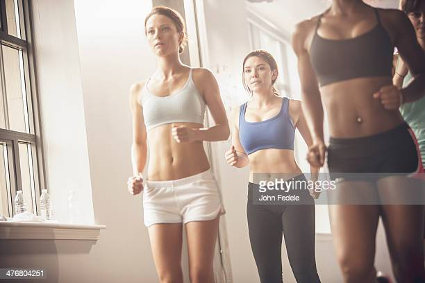 Women working out in exercise class