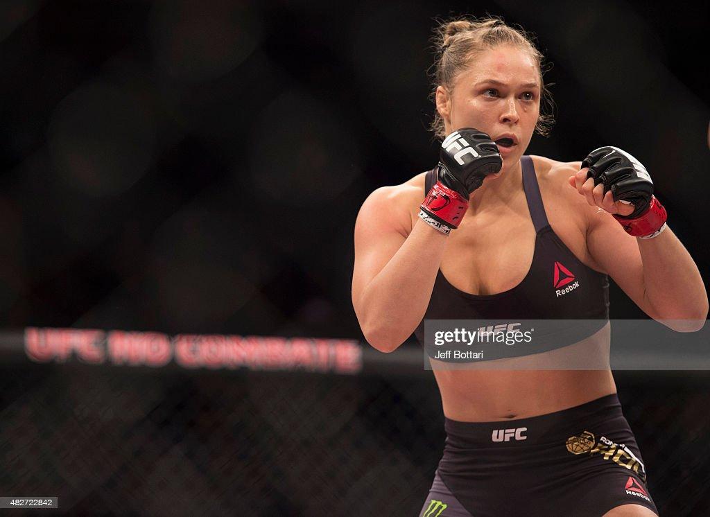 Ronda Rousey might be in line to fight UFC women's bantamweight champion Miesha Tate