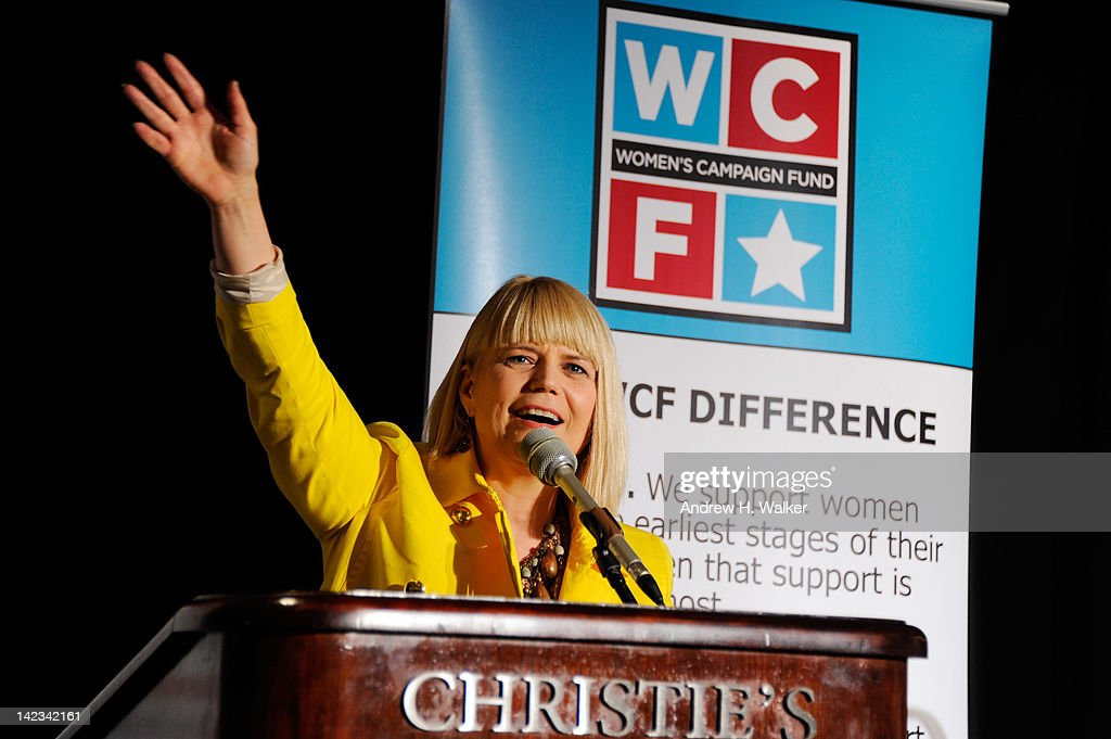 Women's Campaign Fund President and CEO Sam Bennett speaks at Christie's on April 2, 2012 in New York City.
