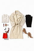 Women's clothing isolated on white background ( with clipping path)