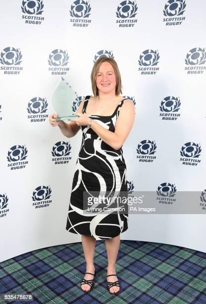 Women's Club of the Year Award Julianna Murciano during the annual Scottish Rugby Awards Dinner at Murrayfield Stadium Edinburgh
