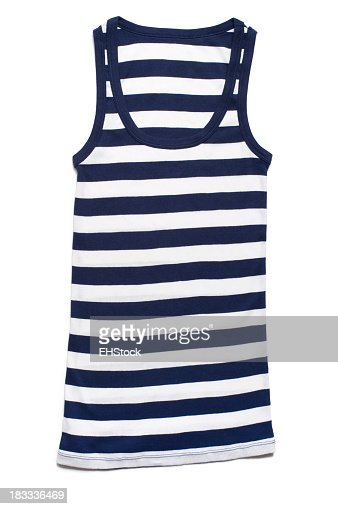 Women's Cotton Tank Top Isolated on White Background