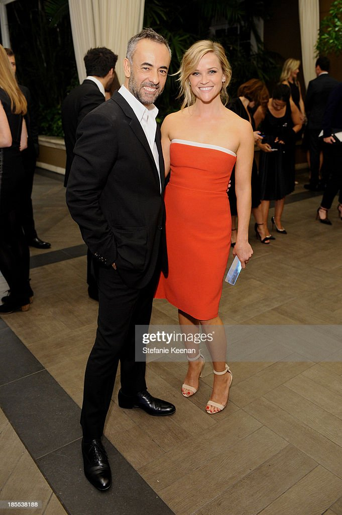 Women's Creative Director of Calvin Klein Collection Francisco Costa and honoree Reese Witherspoon attend ELLE's 20th Annual Women In Hollywood Celebration at Four Seasons Hotel Los Angeles at Beverly Hills on October 21, 2013 in Beverly Hills, California.