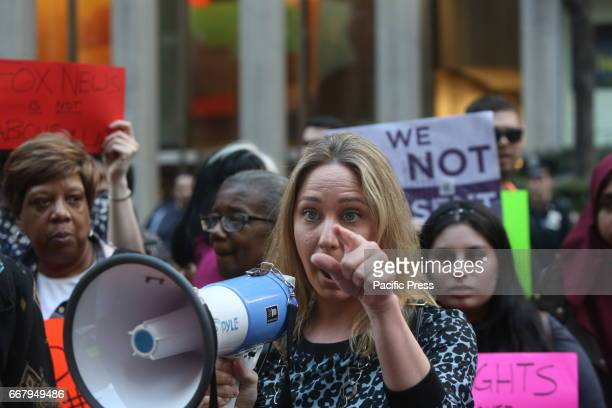 Women's DC Inaugural March coorganizer Katherine Siemionko addresses rally NYC Public Advocate Letitia James held a press conference in front of Fox...