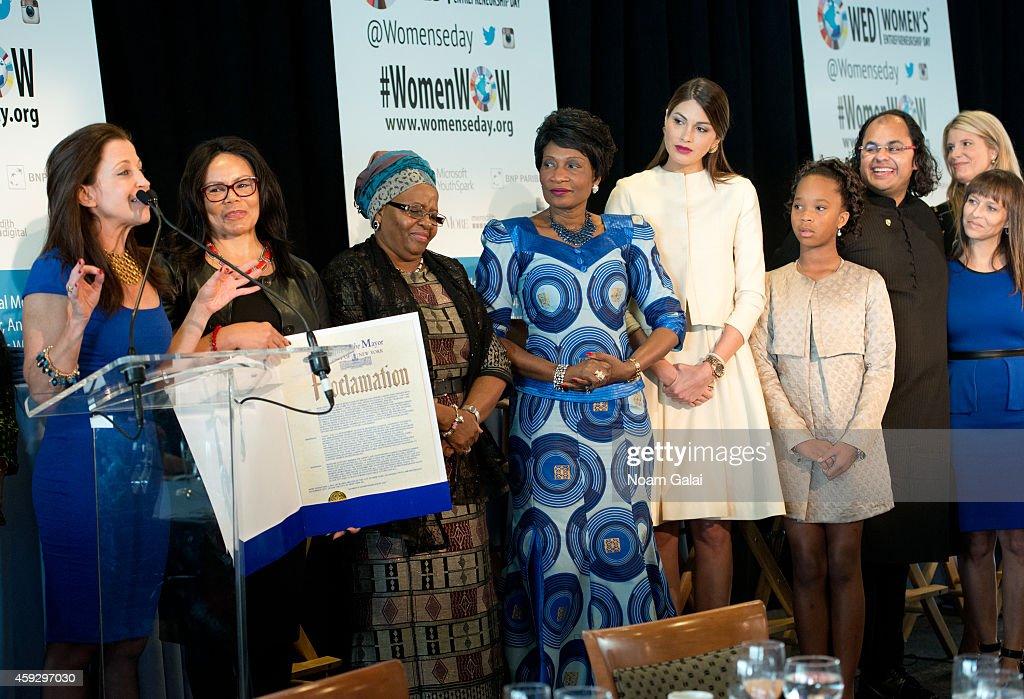 Women's Entrepreneurship Day CEO and Founder Wendy Diamond Women's Global Initiative Founder Marcia Dyson First Lady of Namibia Penehupifo Pohamba...