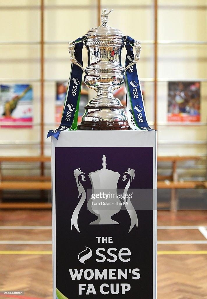 SSE Women's FA Cup Trophy is pictured during the SSE Women's FA Cup Draw on February 8, 2016 in London, England. (Photo by Tom Dulat - The FA/The FA via Getty Images).