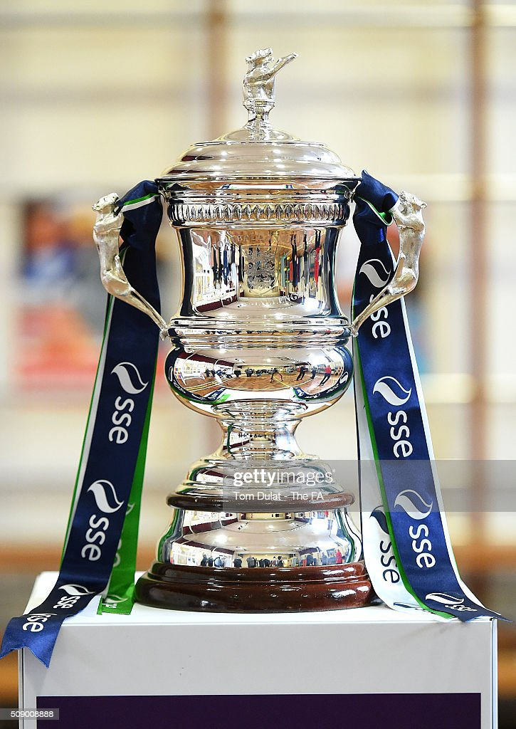 Women's FA Cup Trophy is pictured during the SSE Women's FA Cup Draw on February 8, 2016 in London, England. (Photo by Tom Dulat - The FA/The FA via Getty Images).