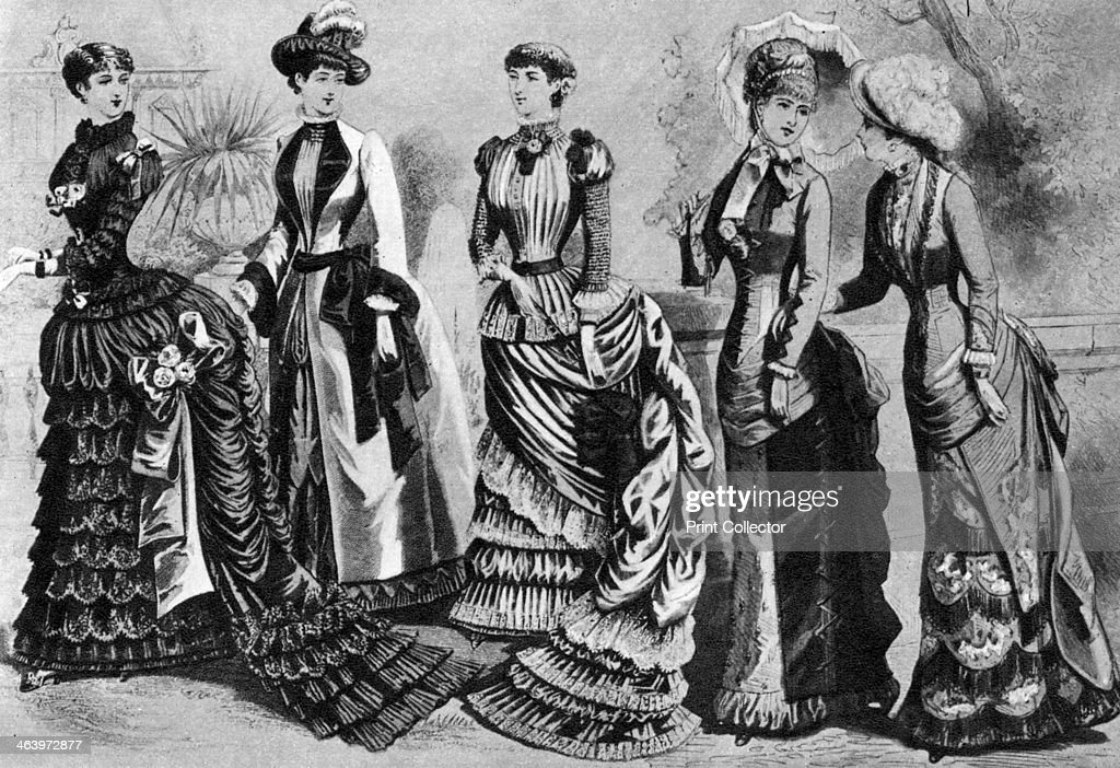 Women's fashion of the 1880s and 1890s 1937 A print from The Story of Seventy Momentous Years the Life and Times of King George V 18651936 editor...