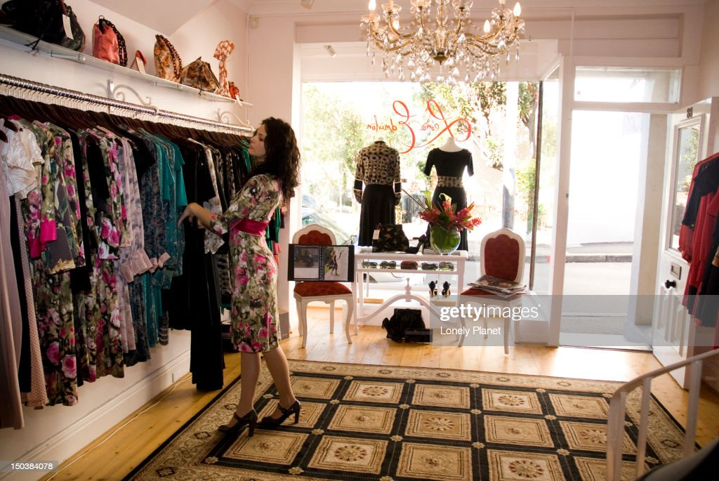 Women's fashion store interior, Paddington. : Stock Photo