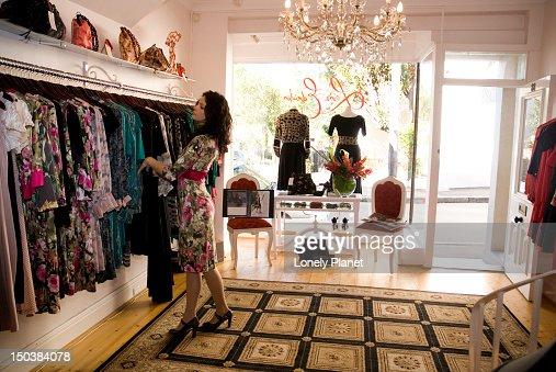 Women's fashion store interior, Paddington. : Stock Photo