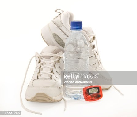 Women's Fitness Shoes, Water Bottle & Pedometer