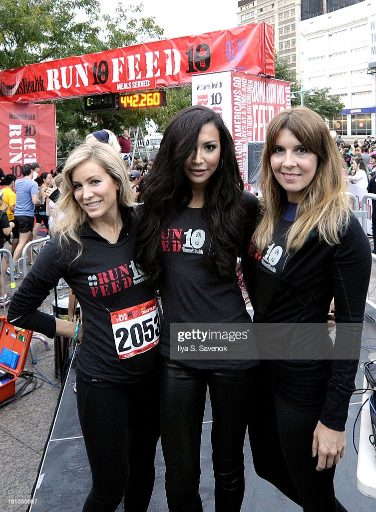 Women's Health publisher, Laura Frerer-Schmidt, Actress Naya Rivera and Editor In Chief of Women's Health, Michele Promaulayko attend Women's Health Magazine RUN10 FEED10 NYC 10K Race Event at Pier 84 on September 22, 2013 in New York City.