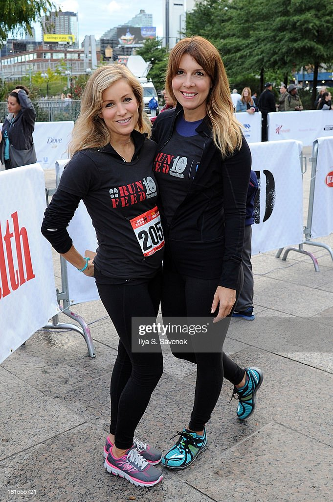 Women's Health publisher, Laura Frerer-Schmidt and Editor In Chief of Women's Health, Michele Promaulayko attend Women's Health Magazine RUN10 FEED10 NYC 10K Race Event at Pier 84 on September 22, 2013 in New York City.