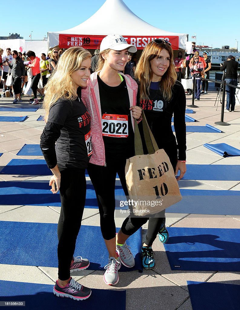 Women's Health publisher, Laura Frerer-Schmidt, Lauren Bush and Editor In Chief of Women's Health, Michele Promaulayko attend Women's Health Magazine RUN10 FEED10 NYC 10K Race Event at Pier 84 on September 22, 2013 in New York City.