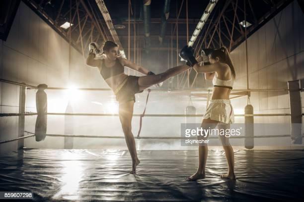 Women's kickboxing match!